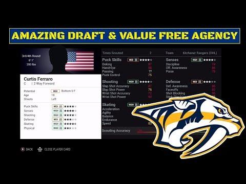 Amazing Draft and Value in Free Agency! | NHL 17 | Nashville Predators Franchise Mode Ep. 30