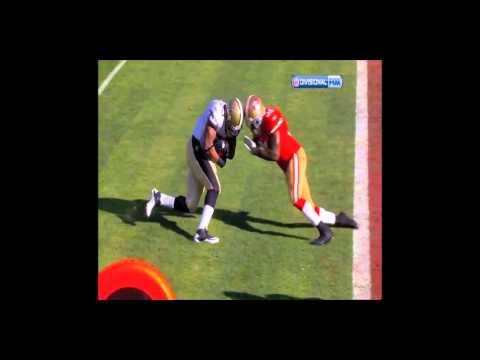 Donte Whitner monster hit Pierre Thomas 49ers vs Saints NFC 2012 HD