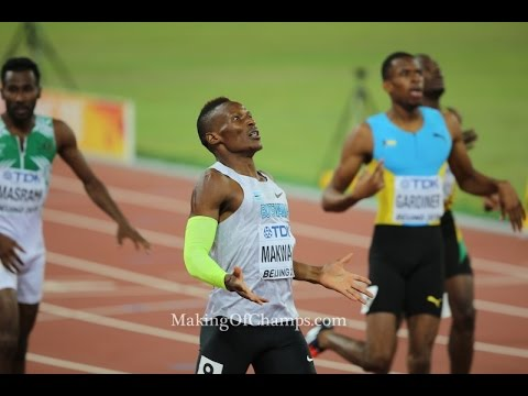2015 World Championships - Isaac Makwala speaks after running fastest ever time in lane 9 (44.11s)
