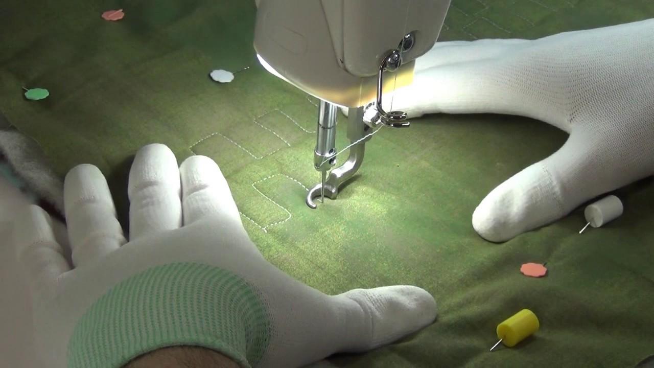 Beginner Machine Quilting Teeth Design On The Grace Qnique