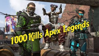 Apex Legends Battle Royale Gameplay 1,000+ KILLS AS WRAITH!!!