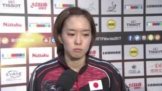 女子シングルス準々決勝 石川佳純インタビュー
