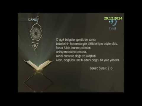 29-12-2014 Bakara Suresi 213. Ayetinin Meali - Yükselen Sözler – HİLAL TV