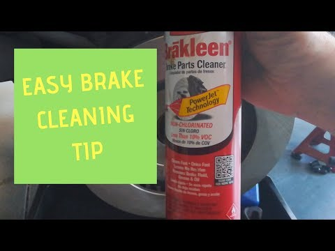 ▶️Easy Brake Cleaning Tip How To Clean ▶️How To Clean Brake Rotors ▶️Save $$$ On Brake Cleaner
