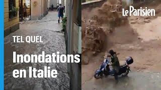 Inondations spectaculaires autour du lac de Côme en Italie