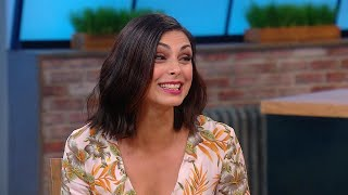 "Morena Baccarin Spills Literally Everything She Can on ""Deadpool 2"""