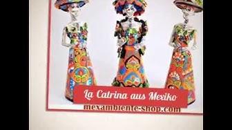 La Catrina - Mexikanische Totenköpfe bunt bemalt