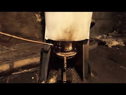Home made waste oil boiler