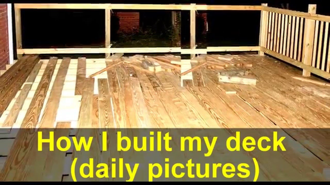 Backyard Wood Deck how to build a backyard wood deck (a big job) - youtube