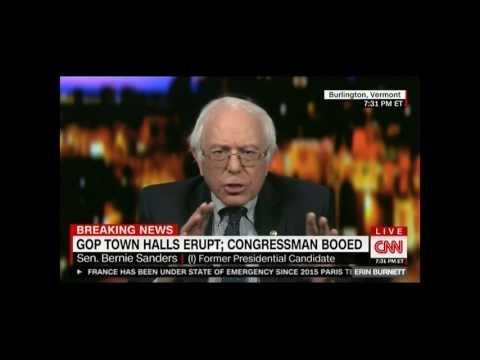 'This guy lies all of the time!': Bernie Sanders rails against 'pathological liar' Trump