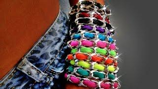 Tutorial 46 • DIY: Bracciale catena e fettuccia in lycra - so erstellen Sie ein Armband mit lycra