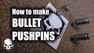 Bullet Push Pins - HD // How to make 9mm  Bullet Tacks