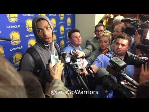 PATRICK McCAW, POSTGAME Golden State Warriors (2-0) vs San Antonio Spurs, WCF Game 2