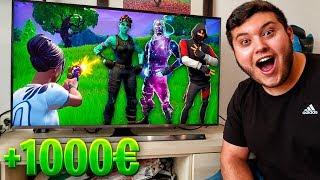 Compro todas las skins que mate este youtuber en Fortnite... *mucho dinero*