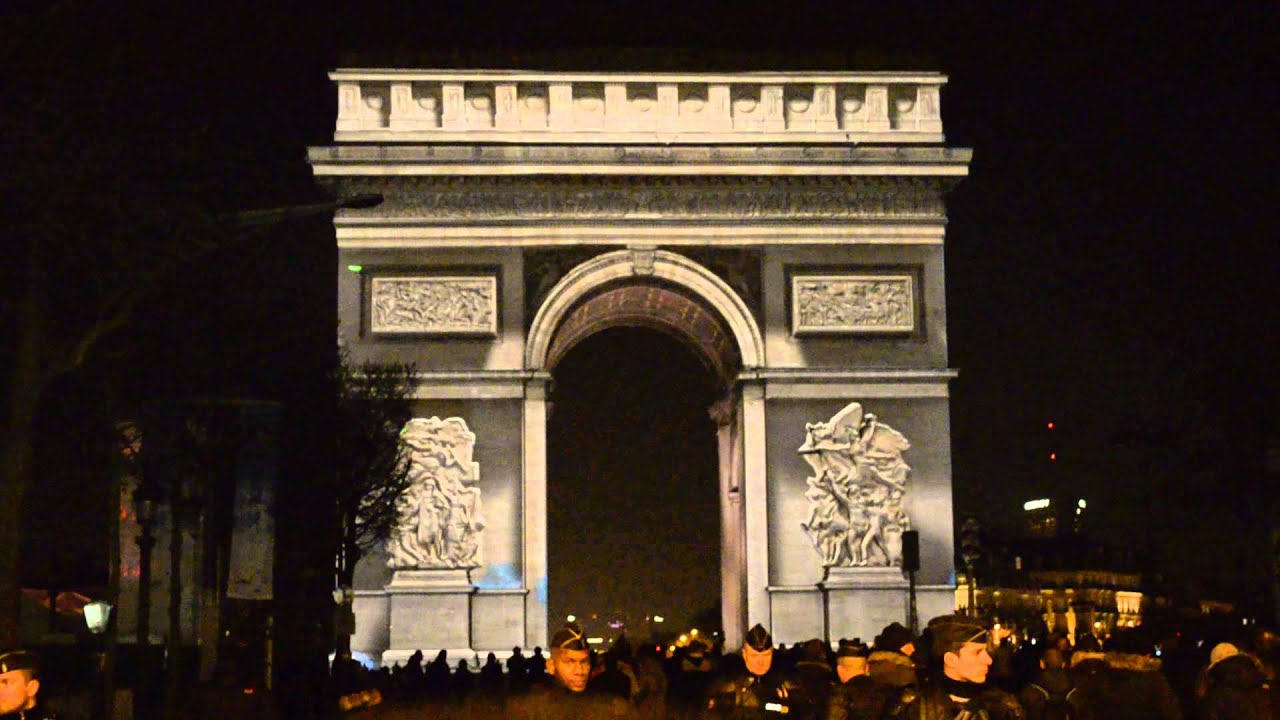 R veillon du nouvel an 2015 arc de triomphe paris youtube - Reveillon nouvel an paris ...