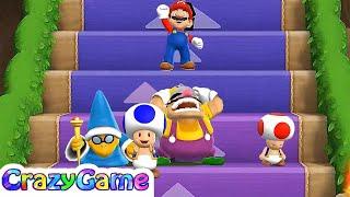Mario Party 9 Step It Up - Mario vs Kamek vs Wario vs Toad Master CPU Gameplay