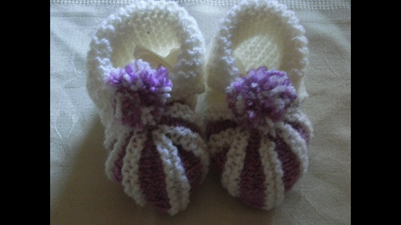 Handarbeit Stricken Baby Balerinas Diy tutorial Schuhe Knitting NnwOXPk80