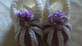 DIY Baby Schuhe Balerinas Stricken Knitting*Tutorial Handarbeit