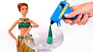 How To Make A Barbie Outfit From Hot Glue