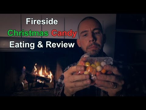 Fireside Christmas Candy Eating & Review [ Traditional ASMR ]