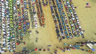 LARGEST HUMAN DOMINO FORMATION