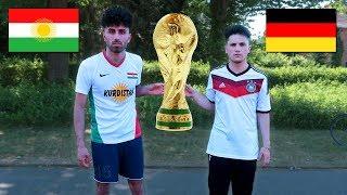 KURDISTAN vs DEUTSCHLAND WM FUßBALL CHALLENGE !!!
