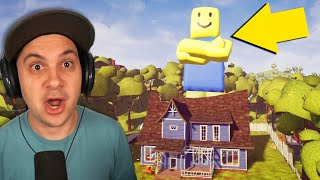 My Neighbor is a GIANT ROBLOX NOOB... | Hello Neighbor