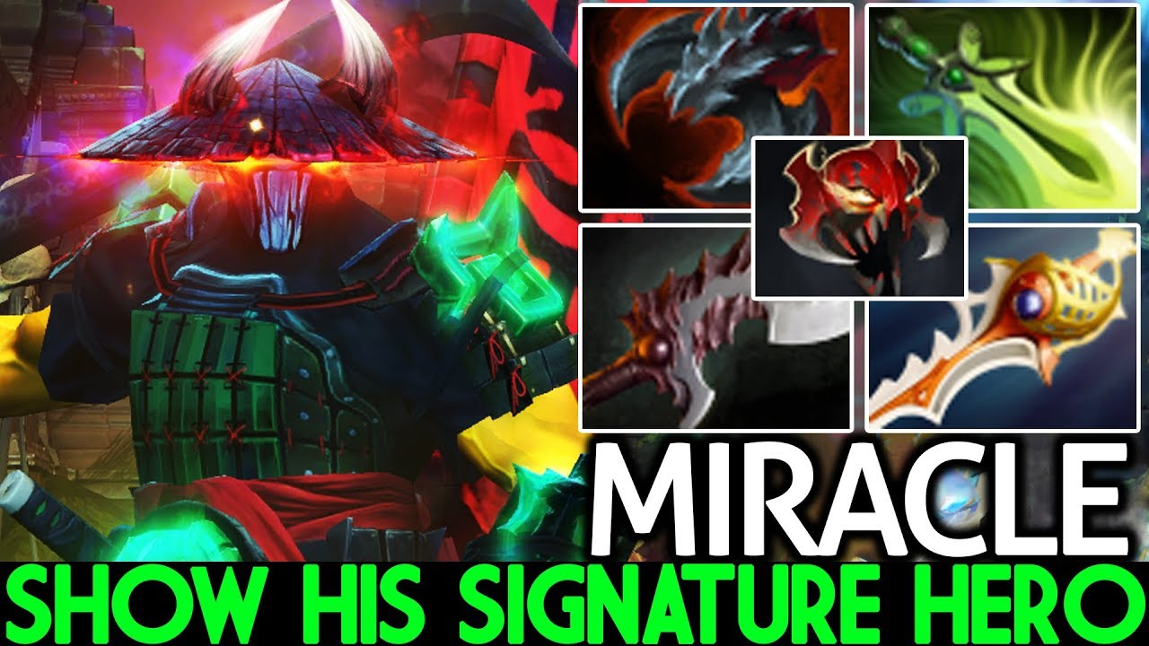 MIRACLE [Juggernaut] Show His Signature Heroes Close Game 7.25 Dota 2