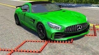 Spike Strip Multi-Vehicle Pileup Crashes #18 - BeamNG Drive Police Spike Strip Testing