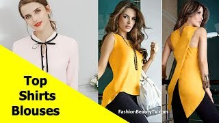 Top 50 Best Shirt and Blouse Designs For Women & Girls S2