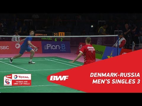 Thomas Cup | MS3 | Jan O Jorgensen (DEN) vs Rodion ALIMOV (R
