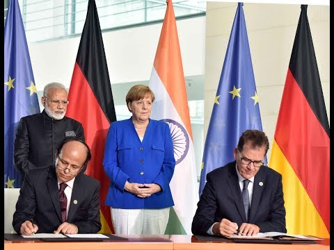 PM Modi at Exchange of Agreements & Press Statement with Chancellor of Germany Angela Merkel