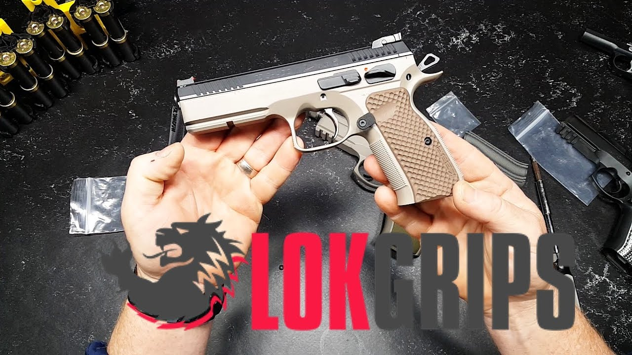 LOK Grips Install and Review!! BEST CZ GRIPS EVER MADE by Kotaboy32 Tactical