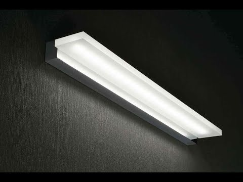 Applique a led integrato per lo specchio del bagno youtube