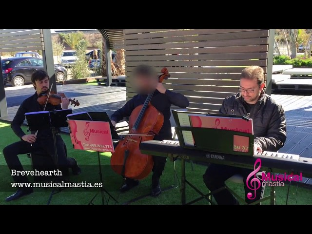 Braveheart TRIO piano violin chelo MUSICA BODAS TOTANA ALHAMA LORCA MURCIA