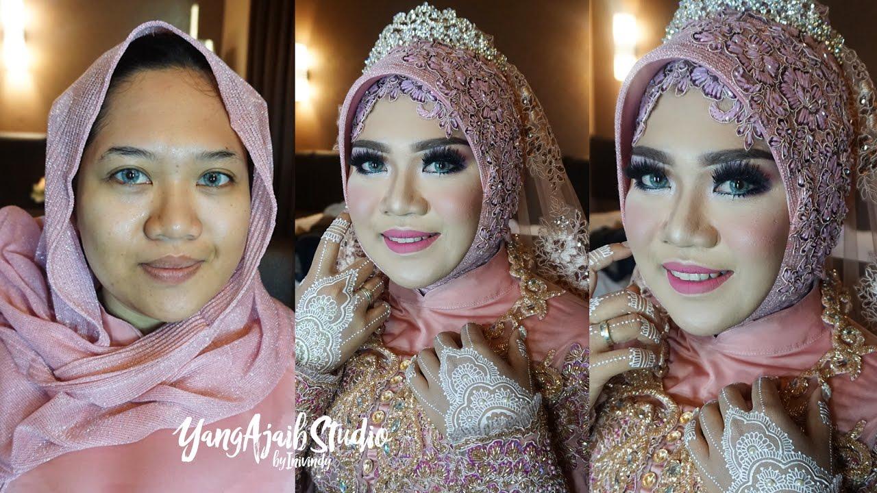 tutorial makeup wedding muslim dan hijab simple elegan