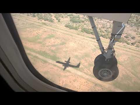Amazing Plane Landing with shadow at Gaborone International airport