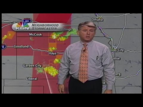 KSN warning of the Greensburg tornado