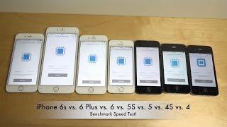 iPhone 6S vs. 6 Plus vs. 6 vs. 5S vs. 5 vs. 4S vs. 4 - Benchmark Speed Test!