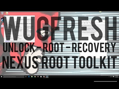 How To Unlock Bootloader - Root - Custom Recovery With Wugfresh Nexus Root Toolkit (Nexus 6P)
