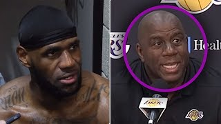 "Magic Johnson Says ""No One Wants To PLAY WITH LEBRON!"" 