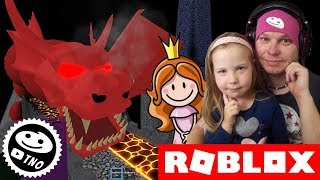 PRINCESS RUNS AWAY FROM the DRAGON-Escape The Dungeon an Obby! | Roblox | Daddy and Yohana CZ/SK