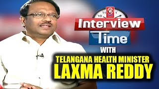 Interview Time With Telangana Health Minister Laxma Reddy | V6 News