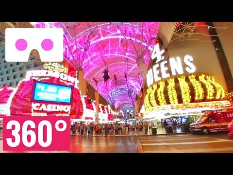 [360 VR video] Las Vegas Fremont Street Experience Zipline Google Cardboard