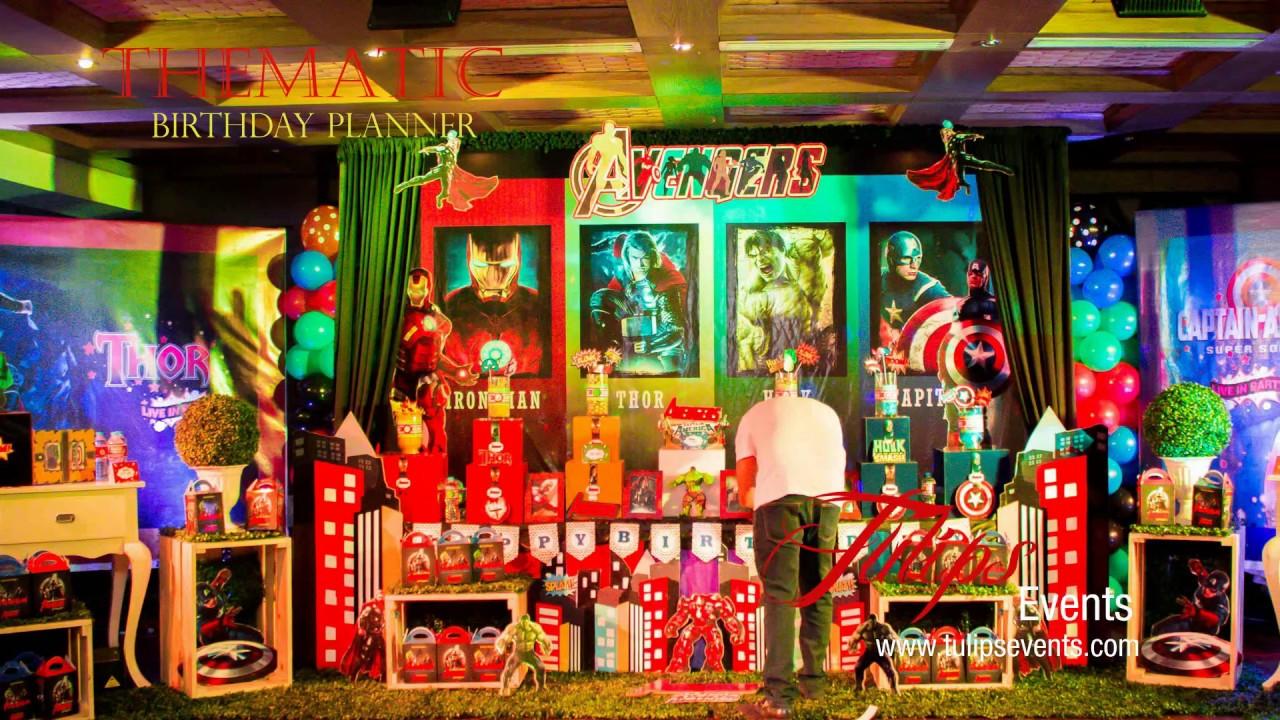 Marvel avengers birthday party theme decor in Pakistan