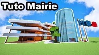 Comment faire une Mairie Moderne sur minecraft ? TUTORIEL !