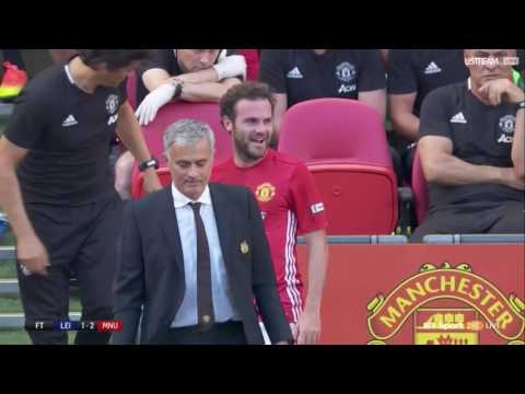 Juan Mata reaction to Jose Mourinho substituting him in Community Shield Final