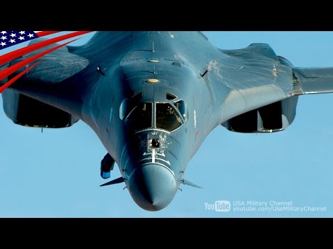 Supersonic Speed (Mach 1.25), Swing Wing Strategic Bomber B-1B Lancer Flight Prep & Take-Off