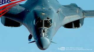 Supersonic Speed (Mach 1.25), Swing Wing Strategic Bomber B-1B Lancer Flight Prep & Take-Off