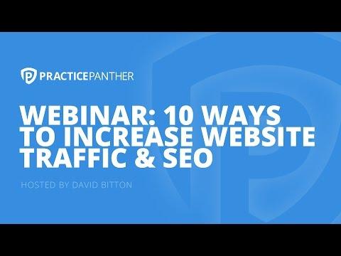 (Webinar) 10 Ways To Increase Website Traffic & SEO, with Gyi Tsakalakis